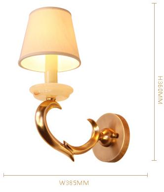 帝拿 美式田园乡村全铜灯壁灯 卧室书房玄关走廊床头壁灯 b2891-2图片