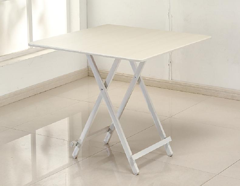 可折叠式圆桌方桌子小型简易便携式吃饭餐桌家用圆形四方户型便捷 棕