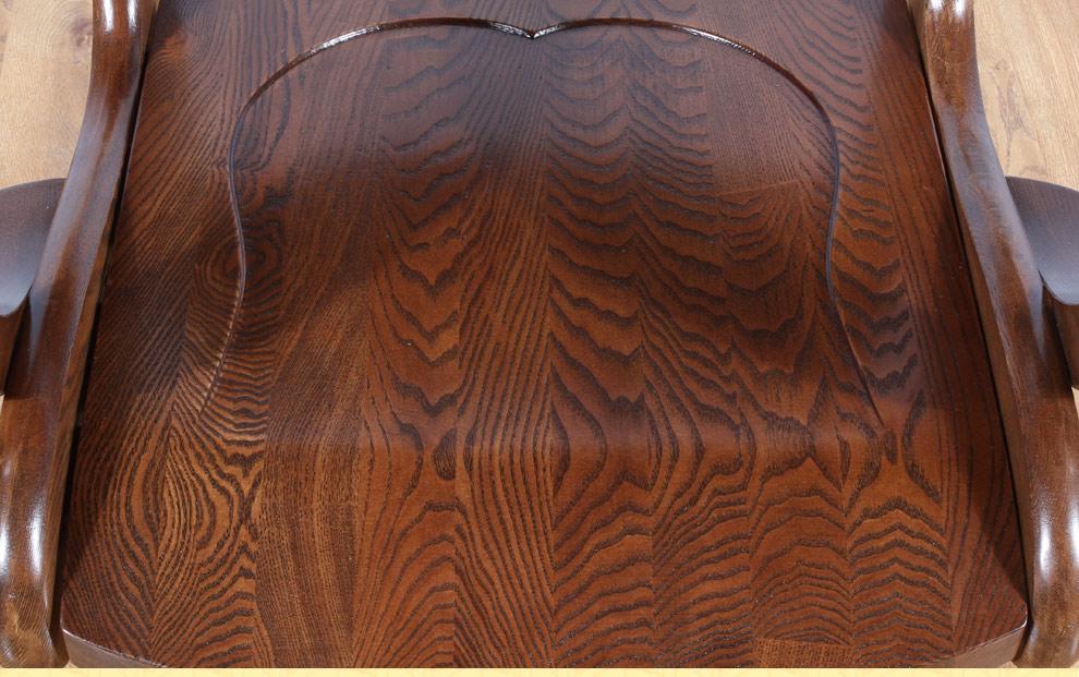 森岳家具 转椅老板椅 原木实木水性漆美式乡村 黑胡桃