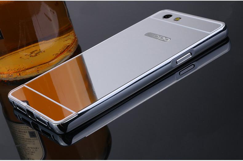 门萨 金属边框手机套保护壳 适用于oppor8207/oppo r1c/r8205 土豪金