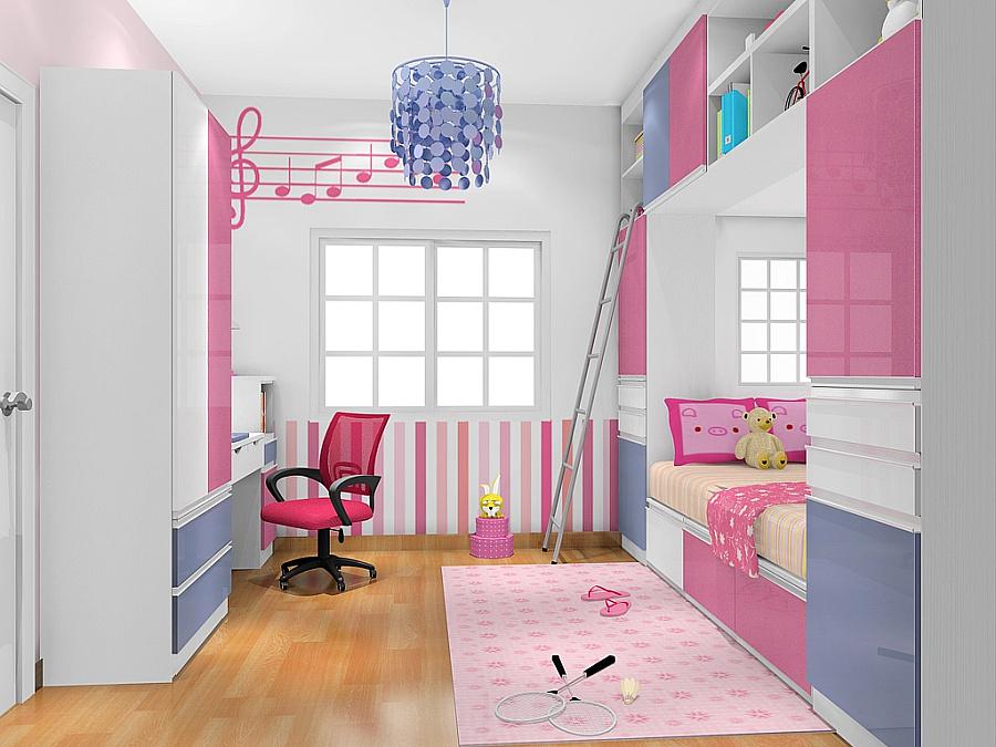 儿童房榻榻米衣柜内部设计图展示