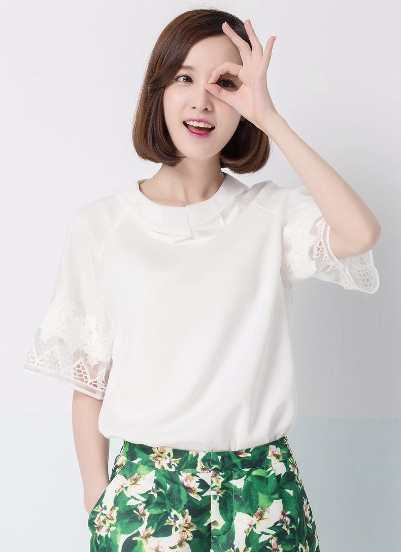 韩版手绘飞鸟棉长袖修身t恤衫女