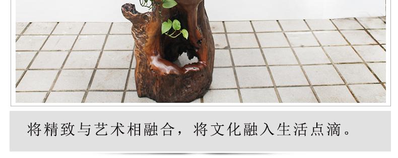 沉化樟木根雕花架实木树根花架阳台盆景架子