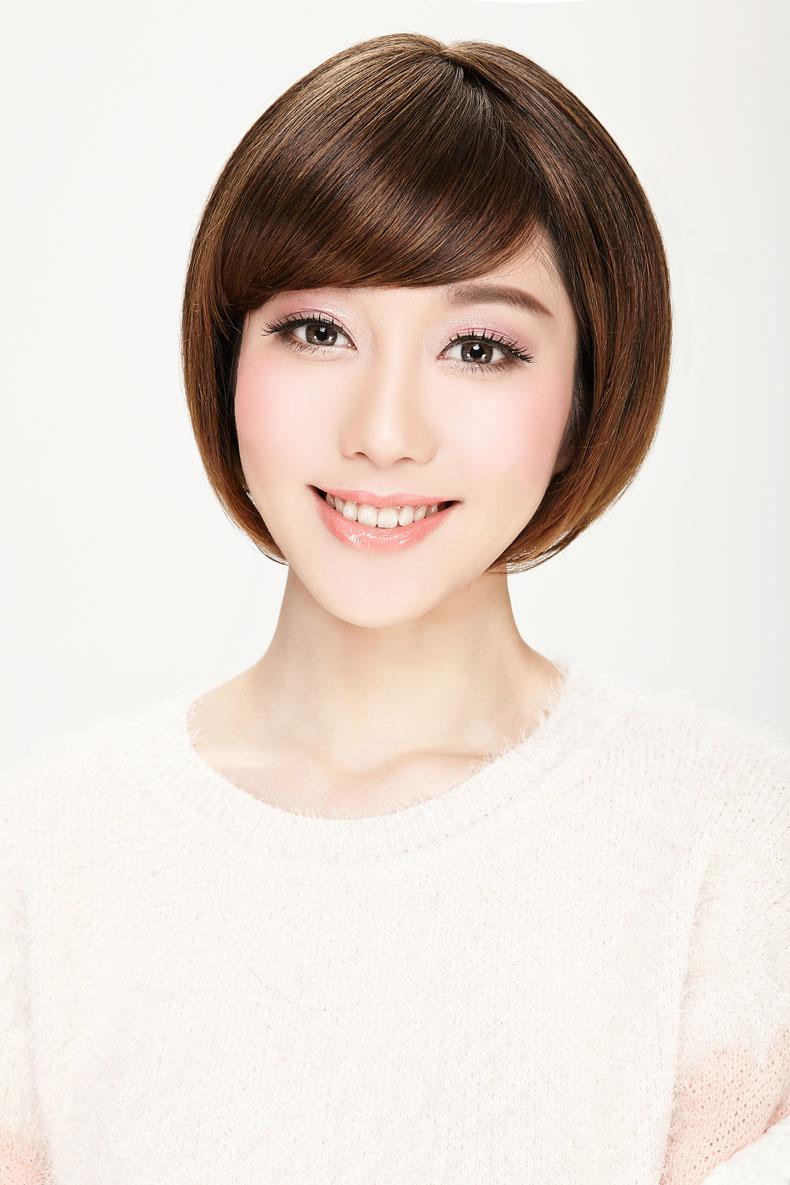 娇滴滴假发女士短发款沙宣头发型 斜刘海bobo头短直发 修脸实拍 #4图片
