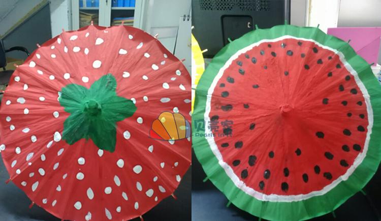 蓥峰 彩色纸伞儿童手工绘画画空白伞幼儿园小学美术手绘工艺创意吊饰图片