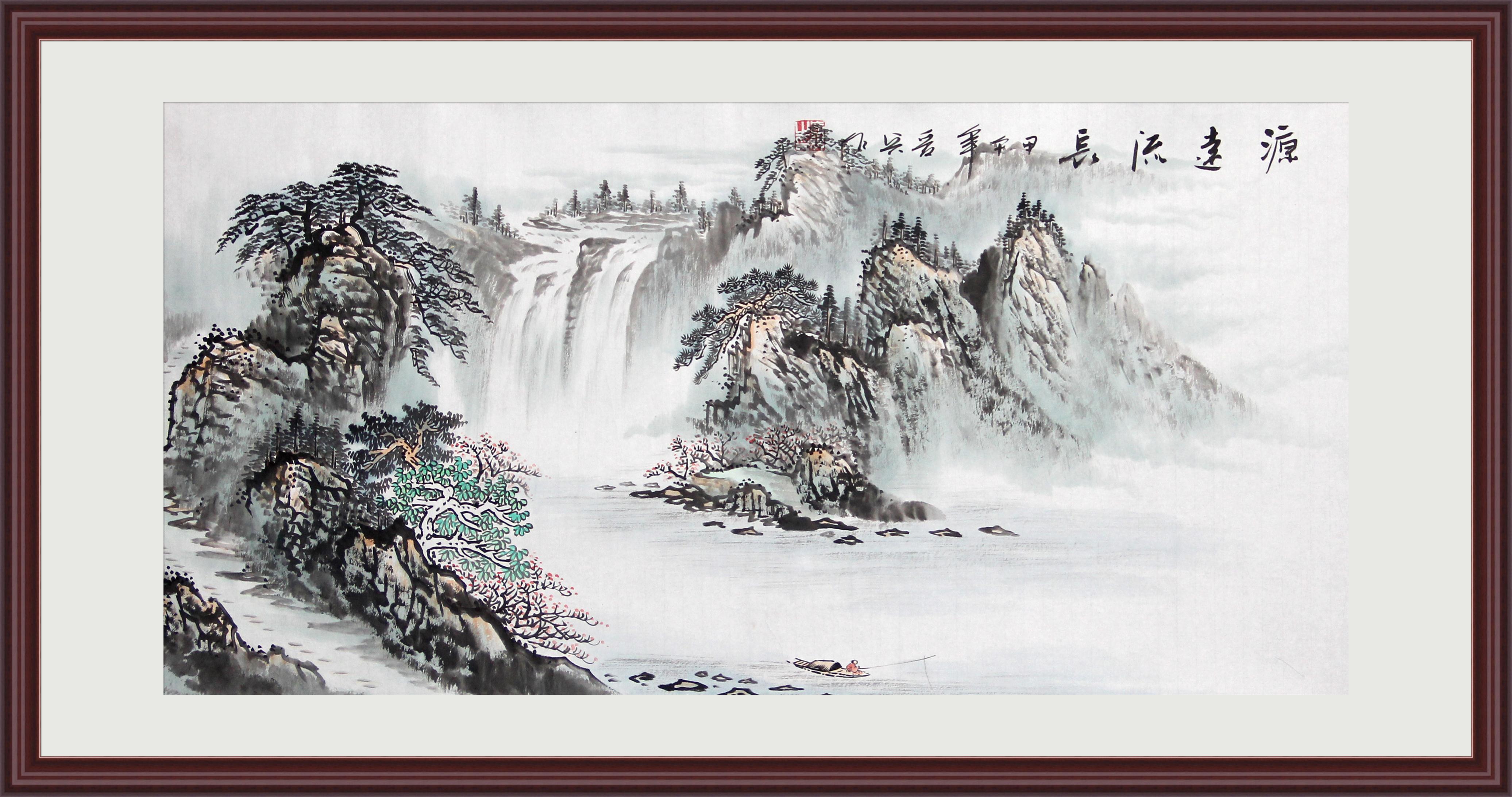 风水画手绘国画源远流