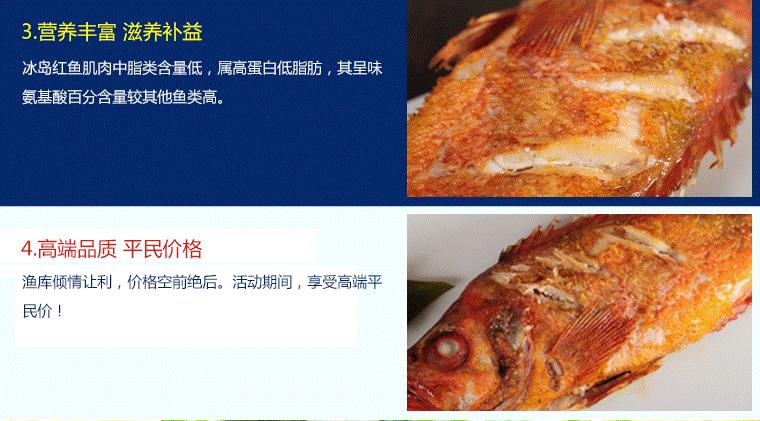 特价冰岛红鱼450g进口冷冻水产海鲜渔库包装单品 450g