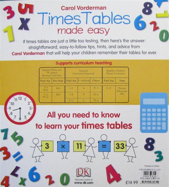 time tables made easy制作简单的时间表原版进口外文儿童绘本