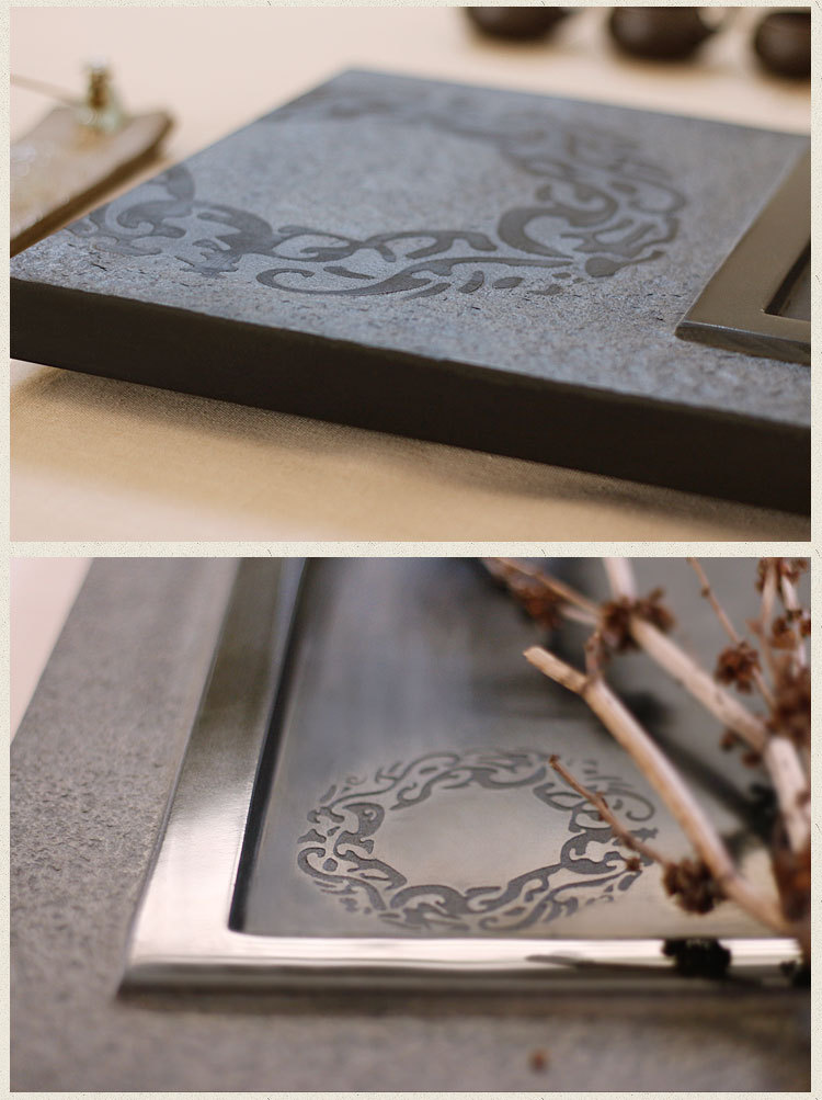 自制长方形石头茶盘设计图展示