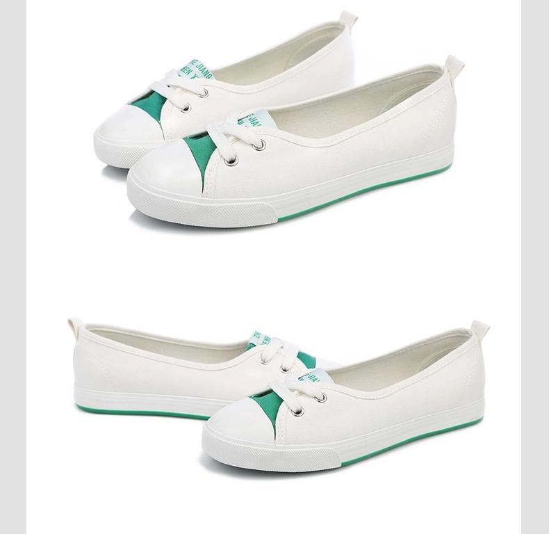 韩版小白鞋女夏系带学牌子品质好 新款好用