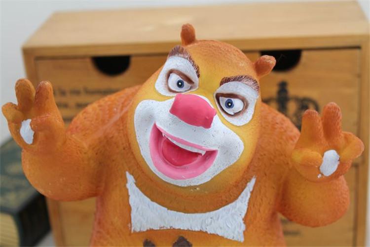 创意摆件熊出没系列之熊大熊二树脂储蓄罐可爱卡通罐 七夕情人节礼品