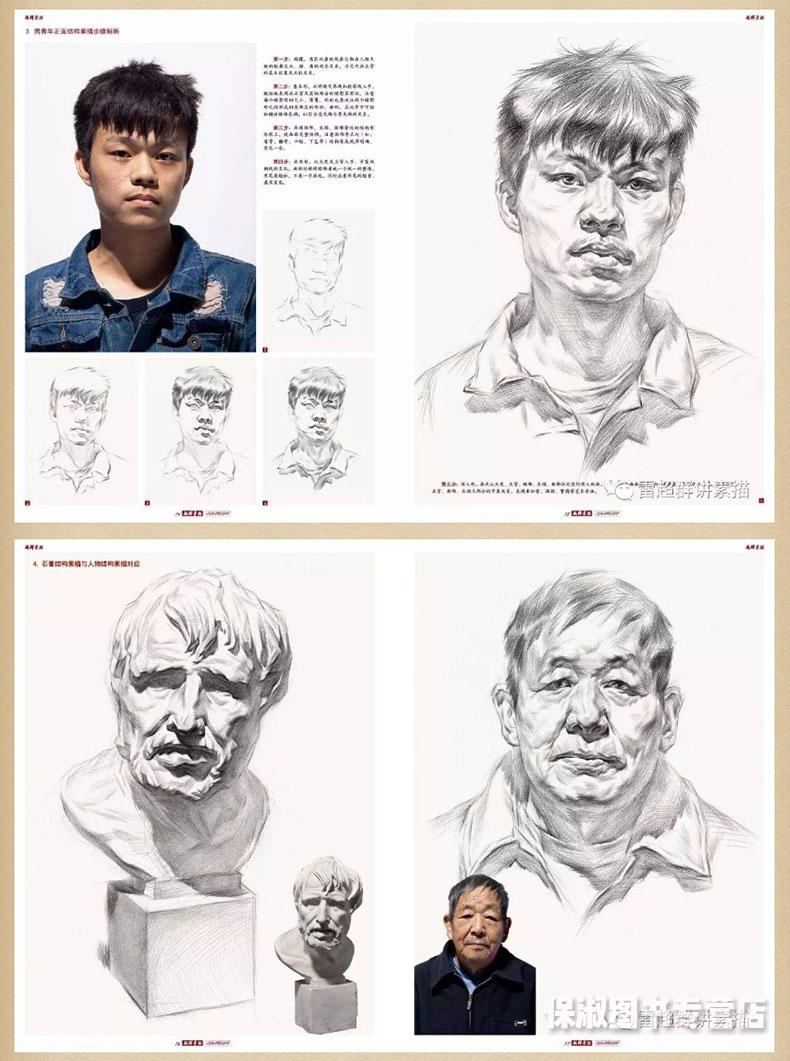【多本低折扣】2017雷超群素描头像 从结构到大关系人物头像五官解析