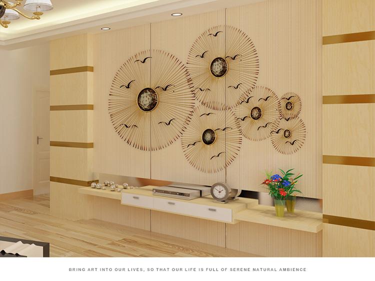 创意欧式现代墙面壁饰壁挂客厅家居装饰品铁艺圆形qq