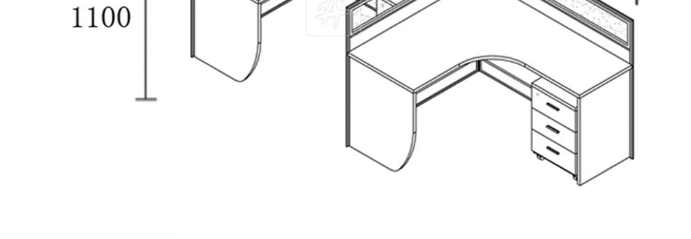 屏风类家具手绘图