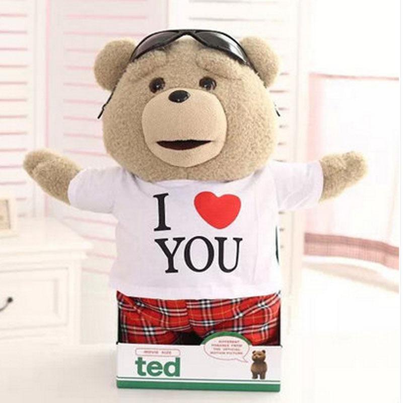 美国电影 贱熊 女娃娃创意生日礼物ted熊泰迪熊毛绒玩具公仔娃娃萌会