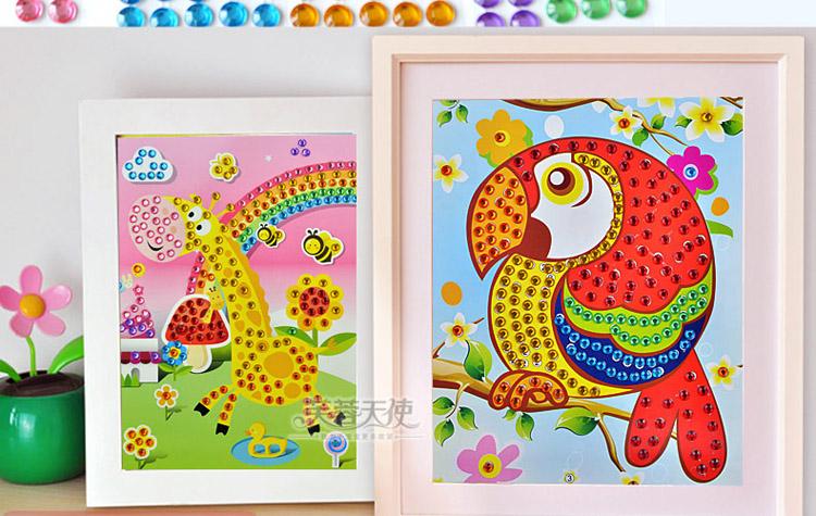 芙蓉天使儿童手工粘贴纸3d贴画 儿童手工制作玩具 eva-儿童手工粘贴
