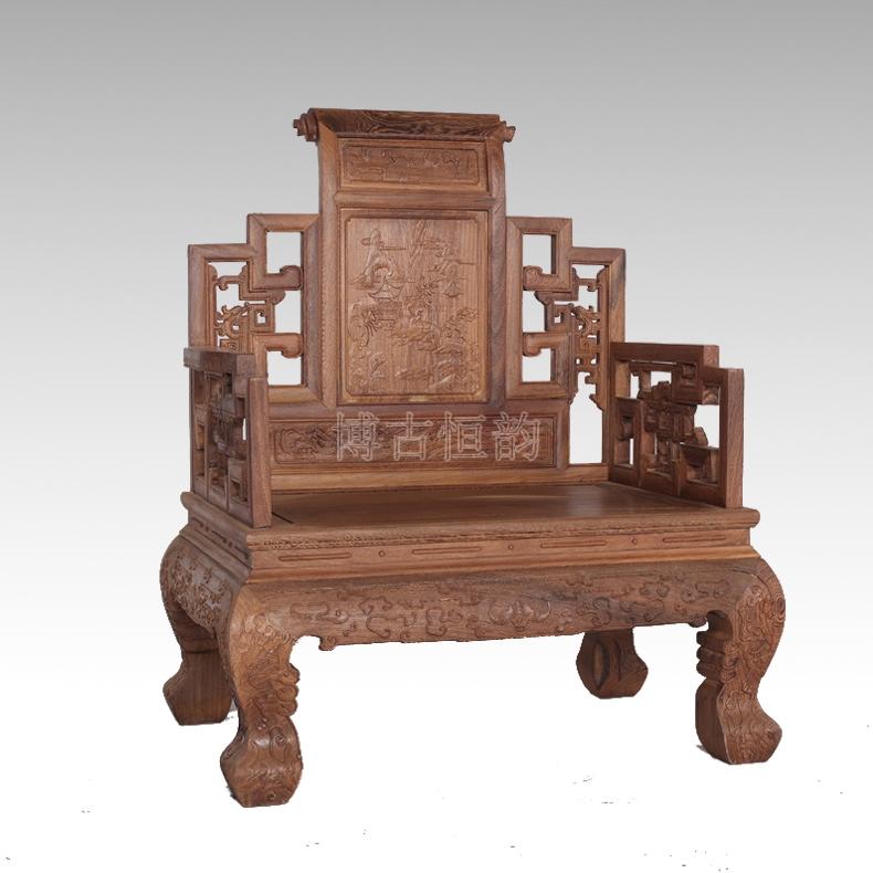 博古恒韵 中式实木沙发宝座 鸡翅木清式客厅古典家具图片