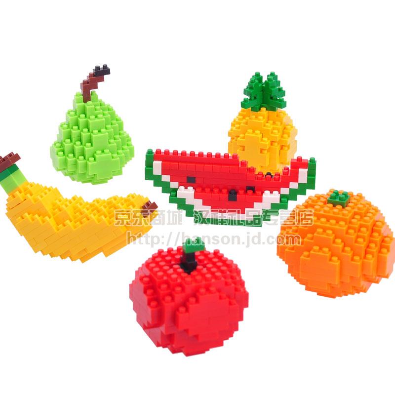 德国loz俐智拼图水果拼装积木益智儿.