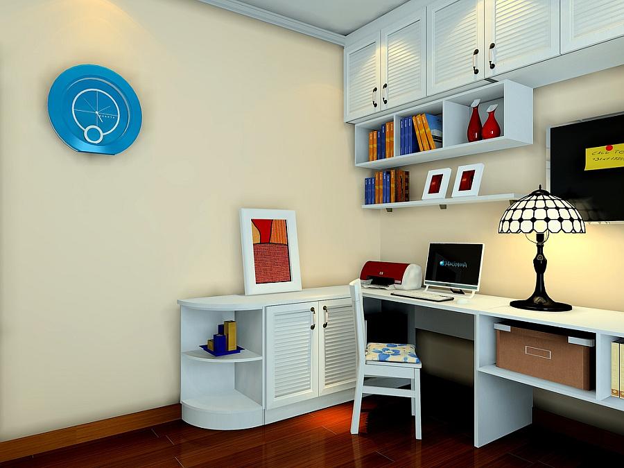 尚品宅配 书柜 书架 定制 书柜 榻榻米 书桌 免费家具设计 书房家具18