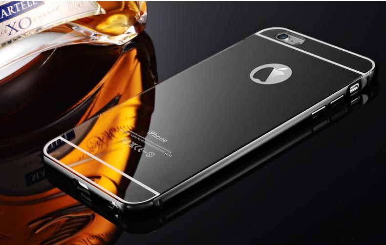 魅高边框6手机壳保护套金属镜面v边框后盖弹力适用于iphone6/iphone6全棉苹果斜纹印花布图片