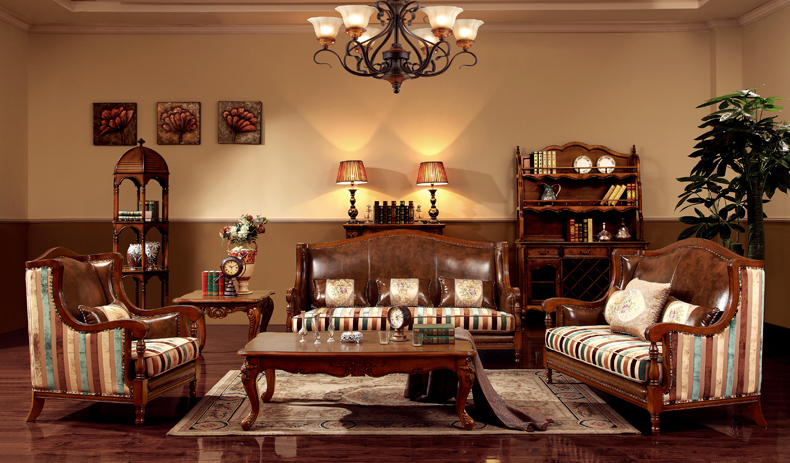 梅爵公馆 茶几 美式实木艺术雕花长茶几 欧式咖啡桌客厅茶艺桌ct002图片