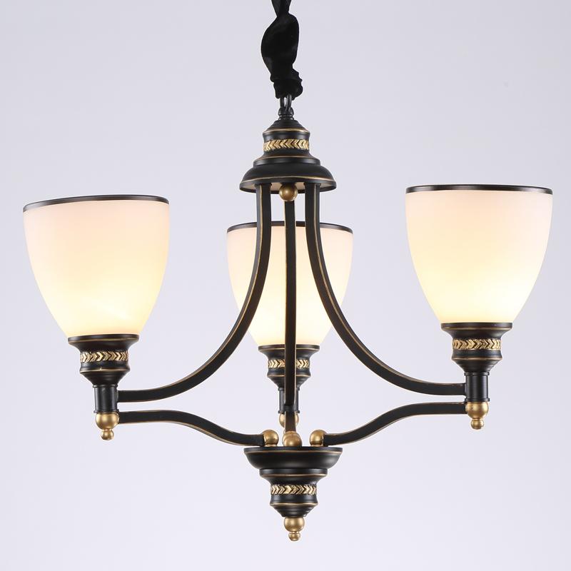 美式吊灯铁艺双层客厅灯具卧室灯 欧式复古简约地中海图片