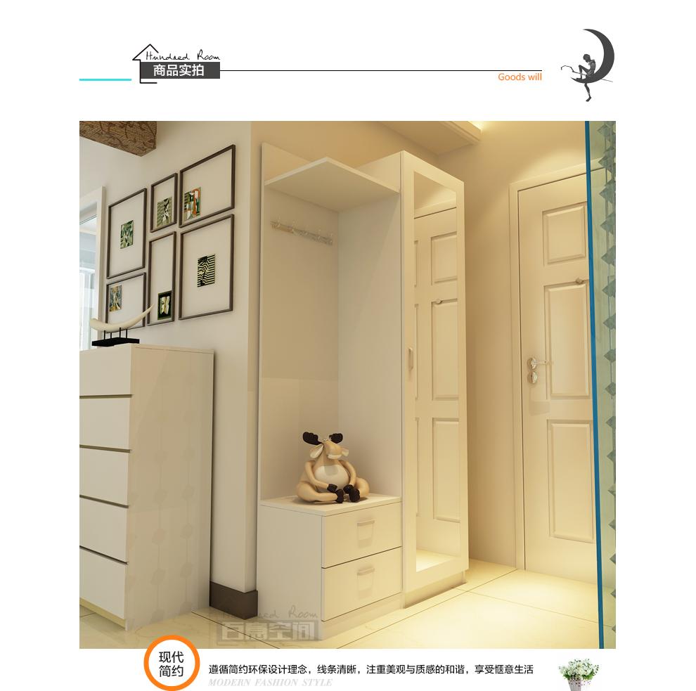 百意空间 环保定制板式储物柜 门厅柜 鞋柜隔断柜大容量衣帽柜 玄关柜图片