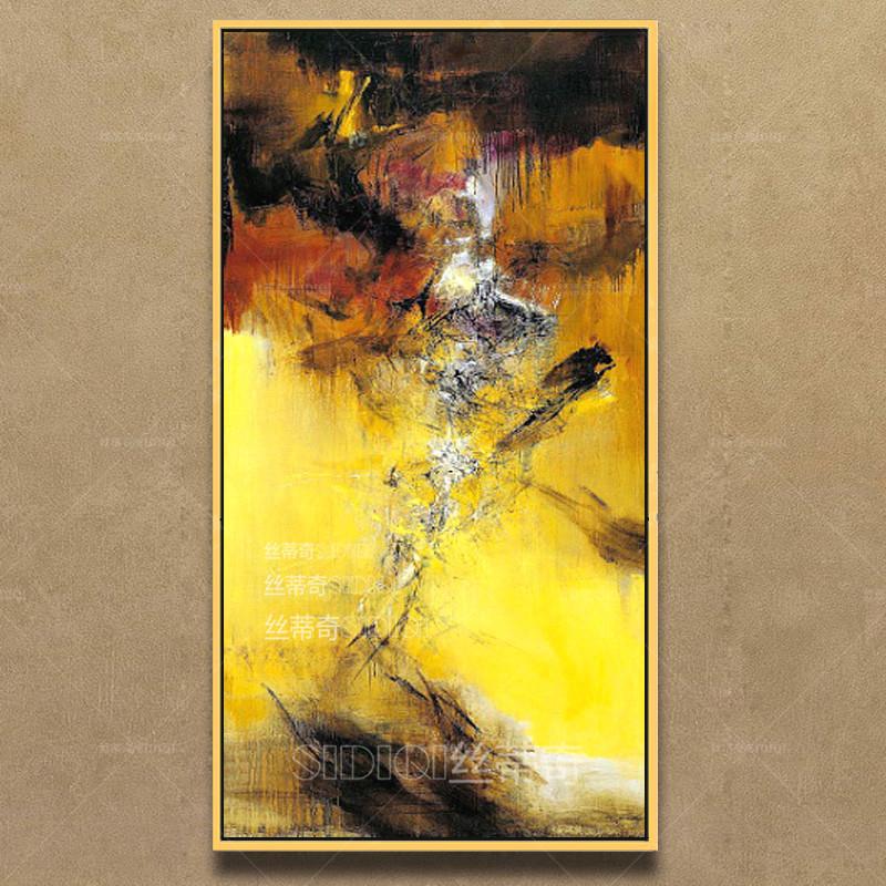 玄关油画抽象