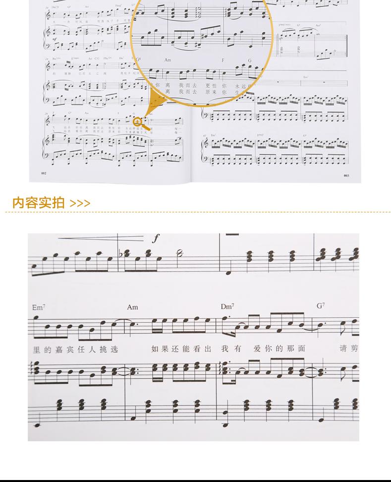 动人旋律精选集 钢琴曲谱书籍 钢琴流行歌曲 流行歌曲钢琴谱 钢琴