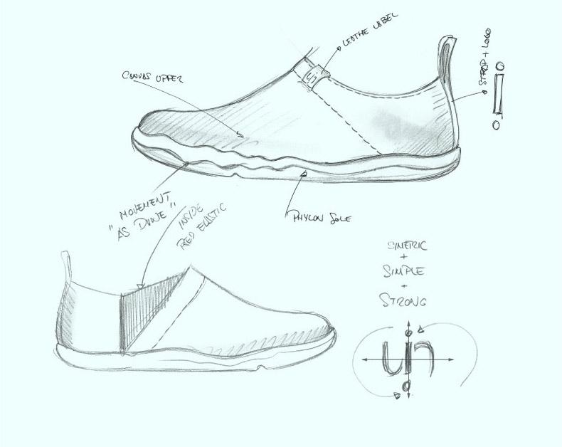 运动鞋设计图 手绘展示