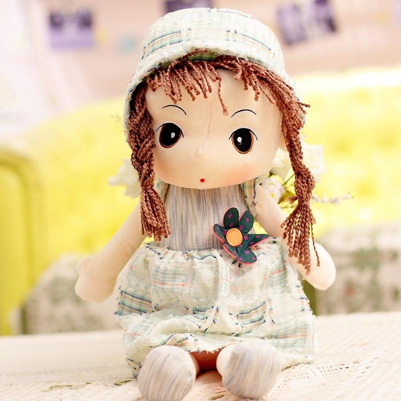 可爱 毛绒玩具菲儿女孩 布娃娃 玩偶 生日礼物 桔色 主图款90cm