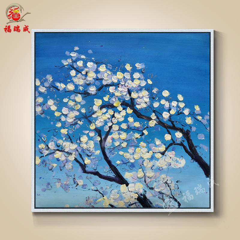 大芬油画手绘欧式简约古典花卉风景人物有框卧室客厅装饰壁画 作品