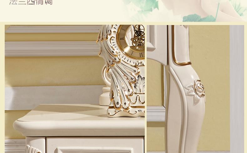 铠日轩家具 欧式梳妆台 法式化妆桌实木 小户型化妆台图片