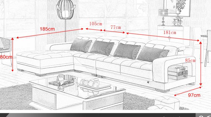 银幕家具 皮沙发 头层牛皮 客厅沙发皮沙发 组合小皮凳 2817沙发 米白