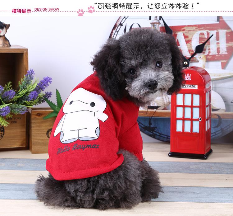夏款 独家韩版狗狗衣服狗t恤狗狗卫衣宠物衣服泰迪比熊博美 可爱大白