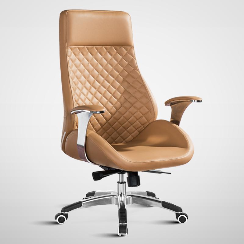 【伊尔伊】真皮老板椅 电脑椅 家用 办公椅子 转椅 升降可躺座椅 大班