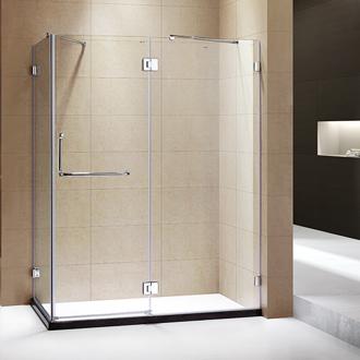 卫生间隔断简易洗浴房无框单移门方型钢化玻璃+防爆