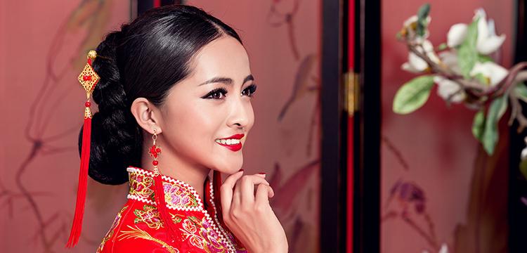 2015年促销结婚头饰 旗袍秀禾服 中式婚礼新娘流苏发钗扶摇边夹中国结图片