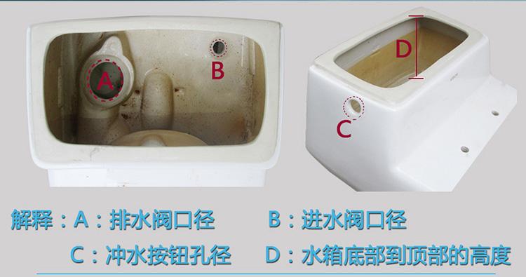 科奇玛kqm 箭牌老式马桶水箱配件侧按线控排水阀通用图片
