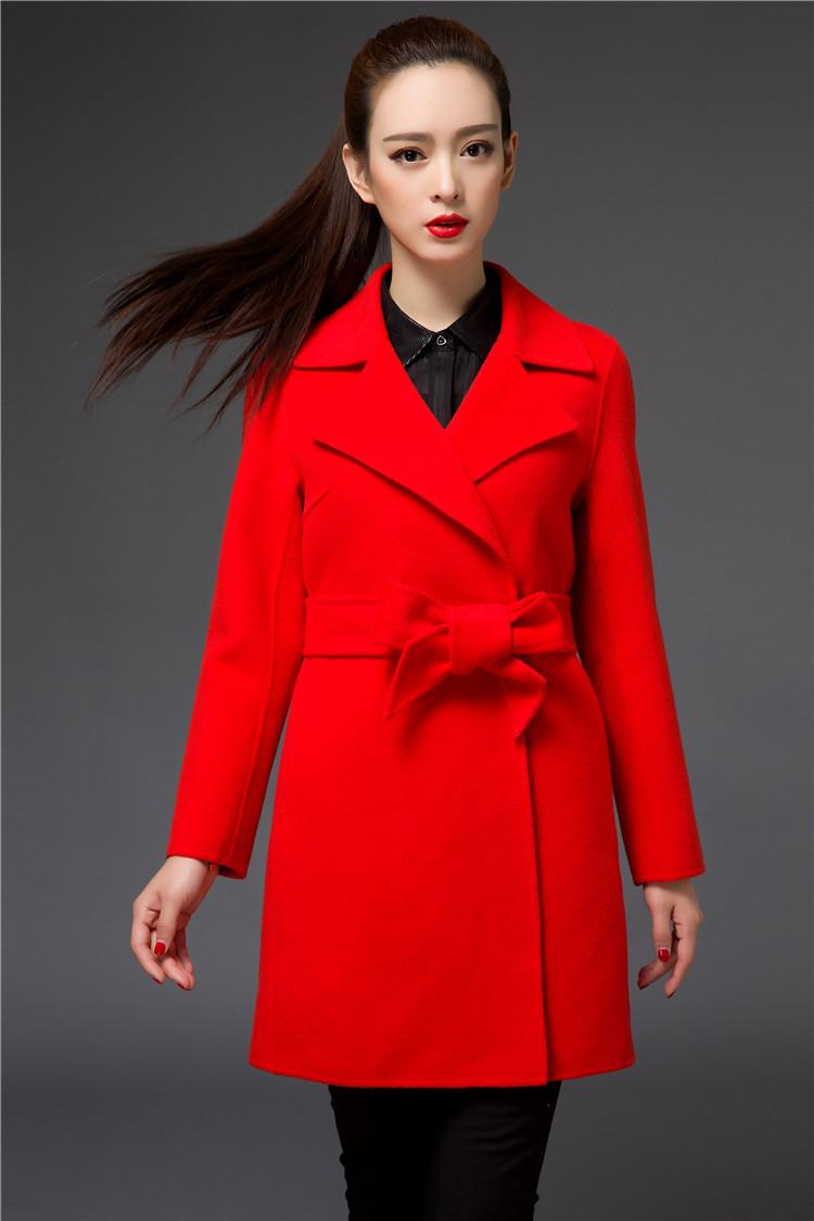 秋冬女装手工双面羊绒牌子品质好 新款好用