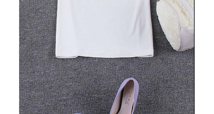 娇人蜜雪虎妈猫爸明星同款短袖手绘印花t恤纯棉针织衫女潮 白色 m