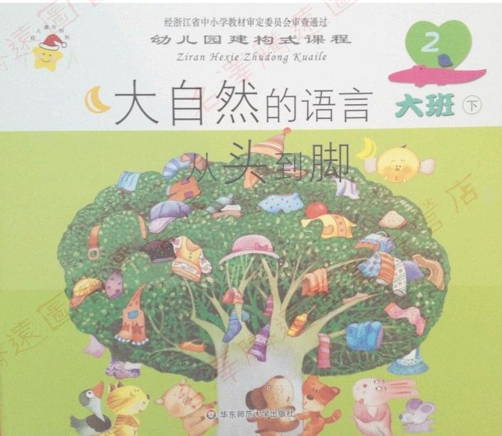 幼儿园建构式课程 幼儿用书 大班下华东师大 幼儿教材幼儿园建构式