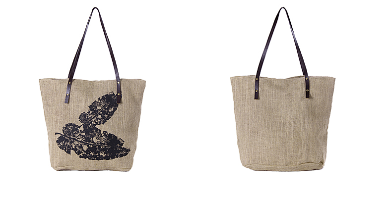 毛线编织树叶子包包