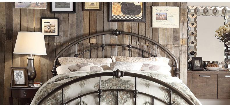 有嘉美式乡村铁艺床 欧式复古家具