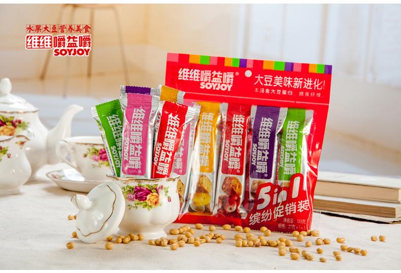 维维嚼益嚼能减肥_正品维维嚼益嚼soyjoy 早晨水果大豆营养代餐棒 5口味
