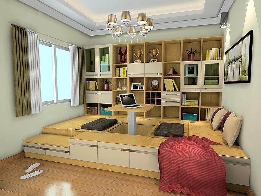 尚品宅配 书柜/书架定制 书柜 书桌 榻榻米 免费家具设计 书房家具12