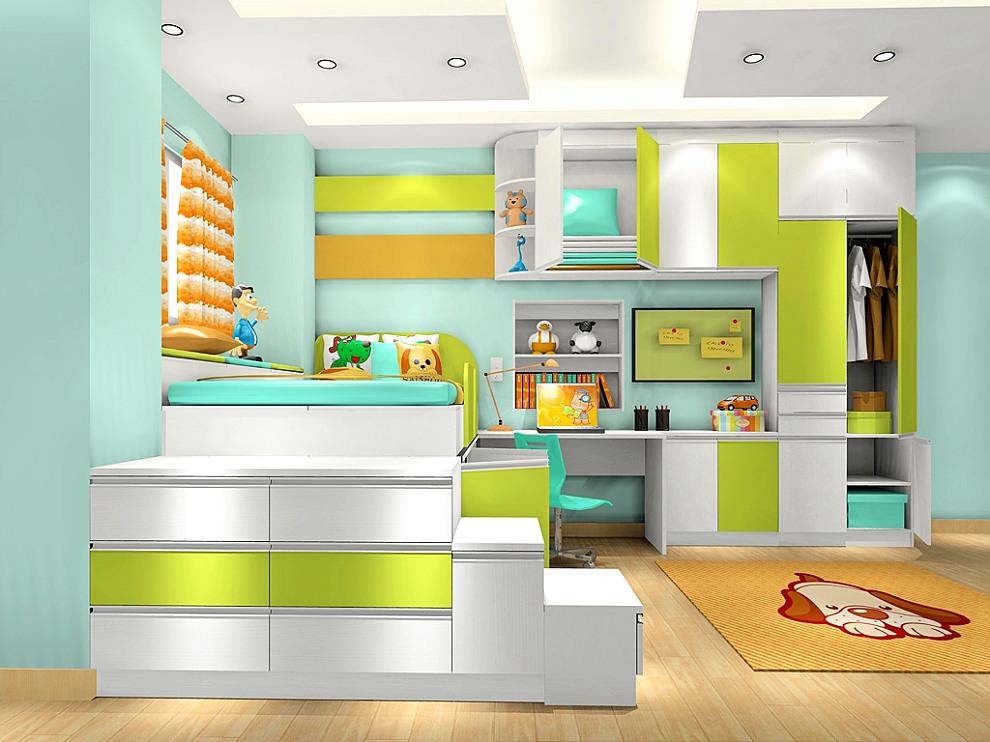 尚品宅配 全屋家具定制 床 儿童床 榻榻米 床 头柜 衣柜 书桌 空间