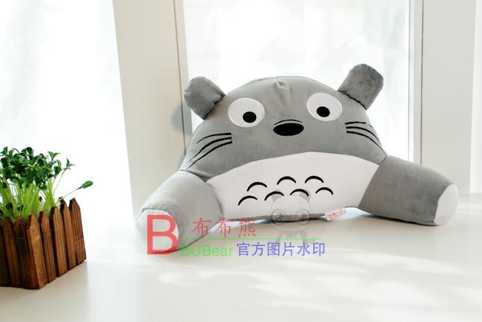 龙猫暖手抱枕公仔手捂玩偶毛绒玩具布娃娃大号可爱两用靠垫靠枕 龙猫
