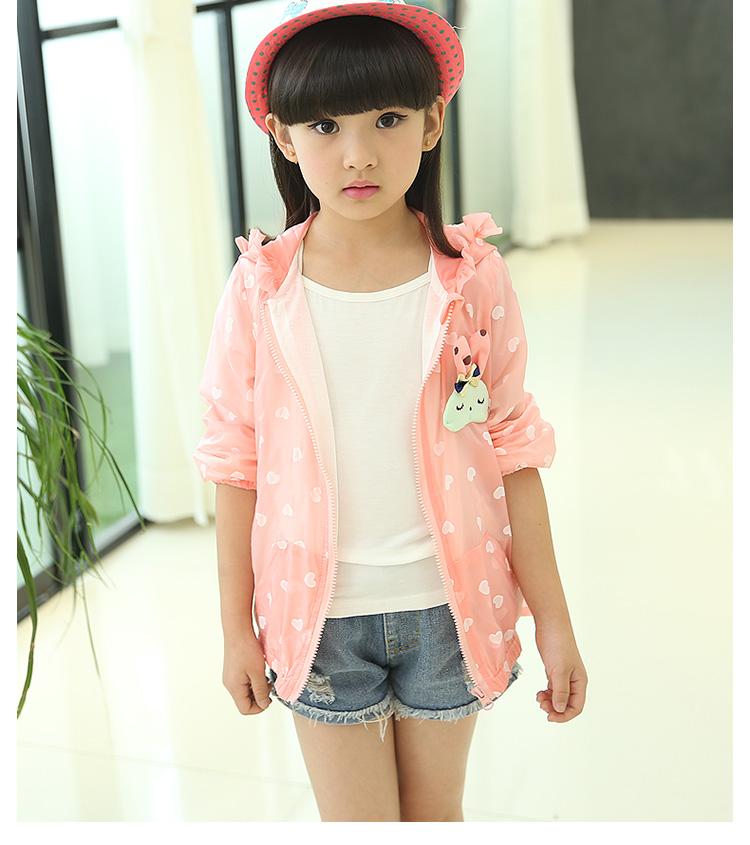 女童外套秋装韩版儿童防晒衣拉链衫