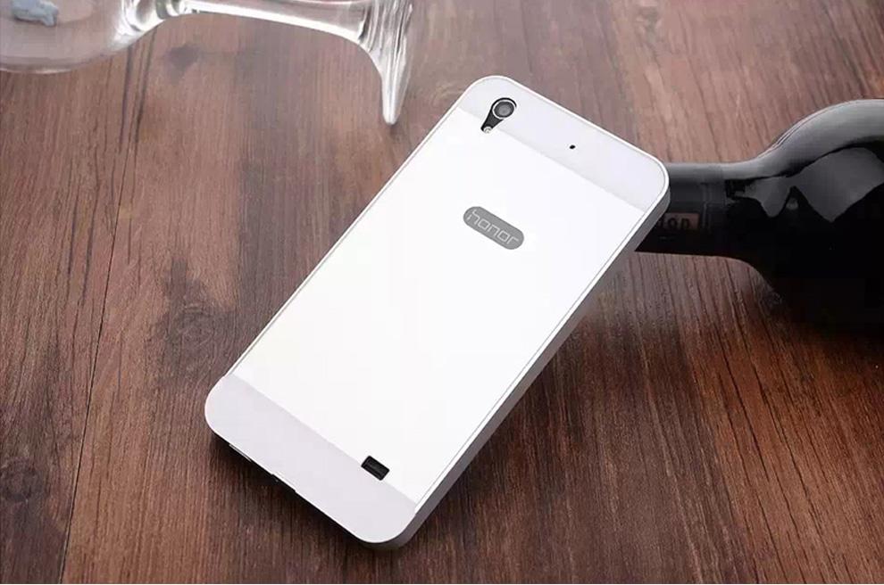 gisso金属边框手机套保护壳适用于华为荣耀4x/荣耀4c